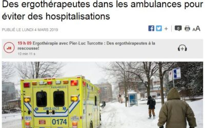 Des ergothérapeutes dans les ambulances