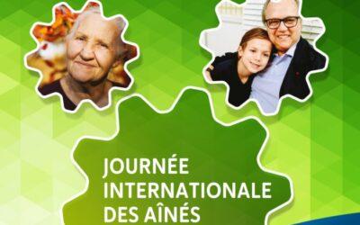 La journée internationale des aînés et le vieillissement de la population